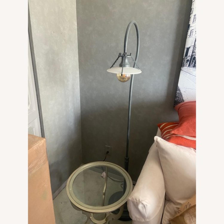 Industrial Gray Metal Floor Lamp - image-1