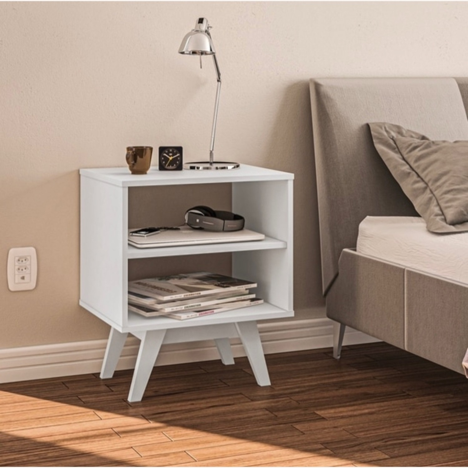 White Night Stands / End Tables Set of 2 - image-4