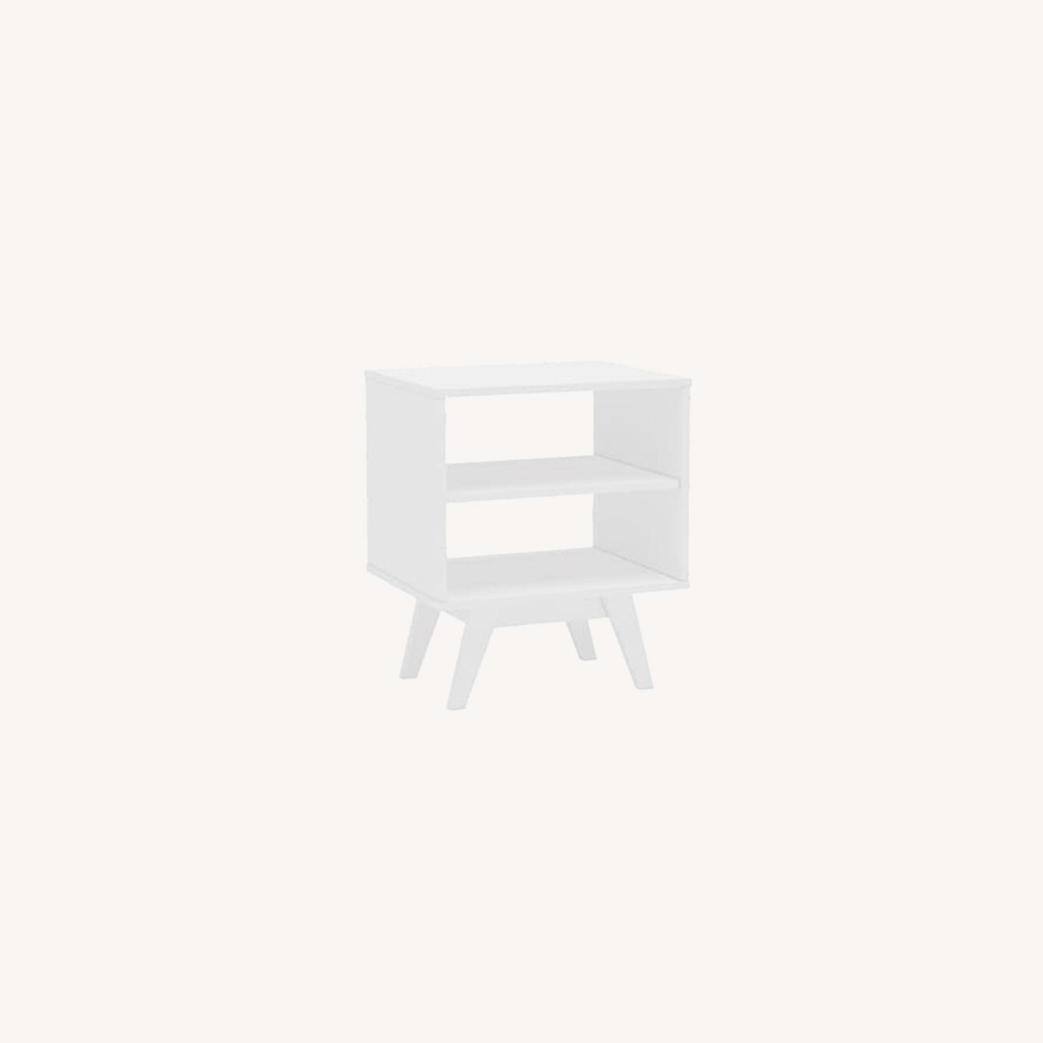 White Night Stands / End Tables Set of 2 - image-0