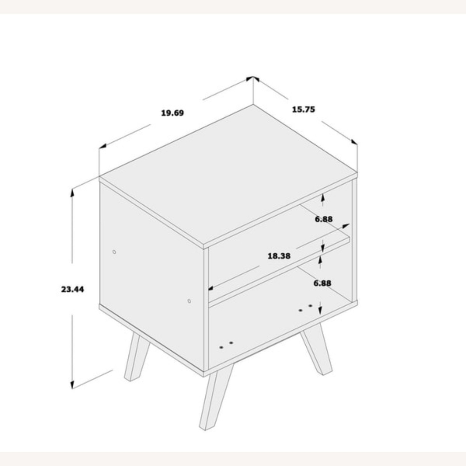 White Night Stands / End Tables Set of 2 - image-3