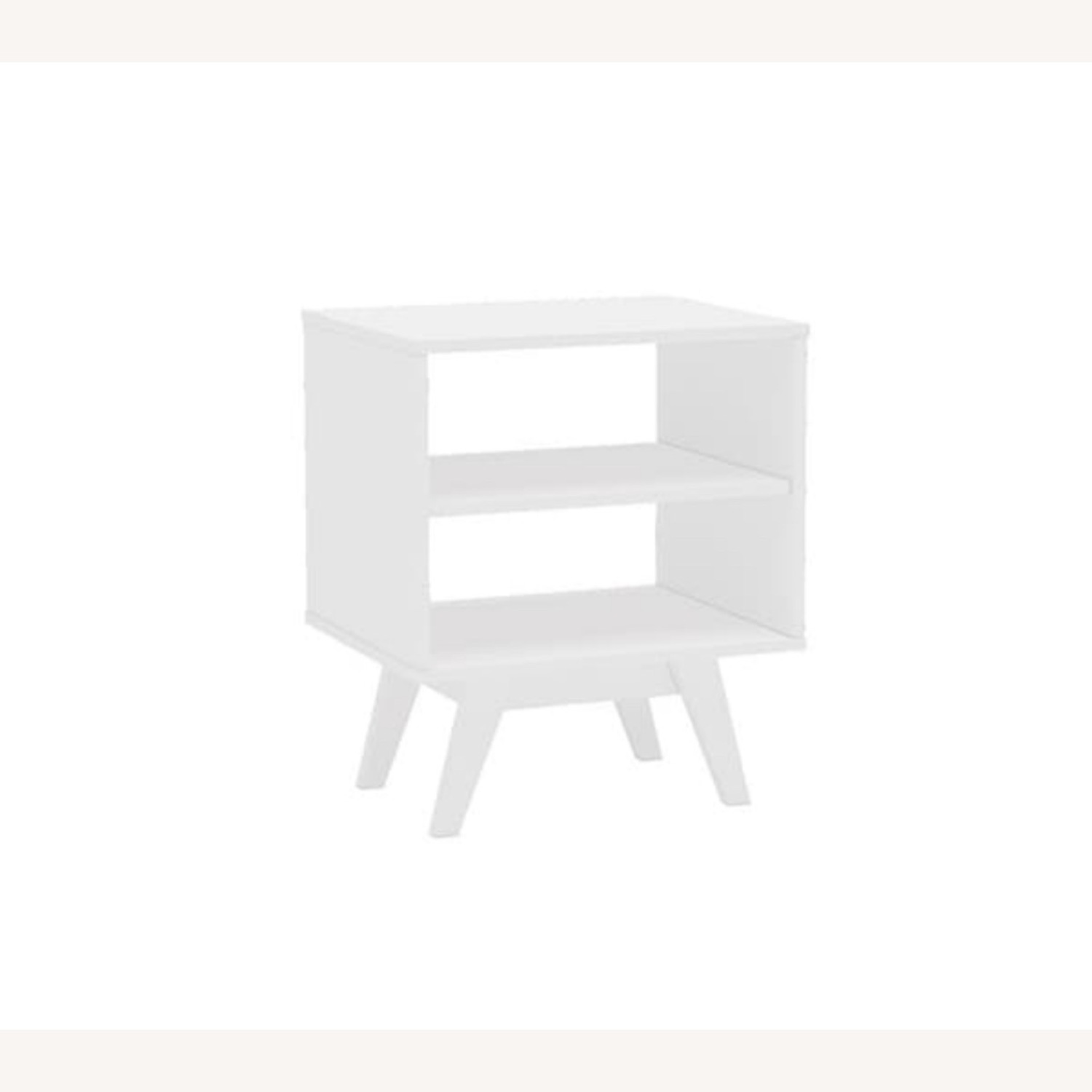 White Night Stands / End Tables Set of 2 - image-1
