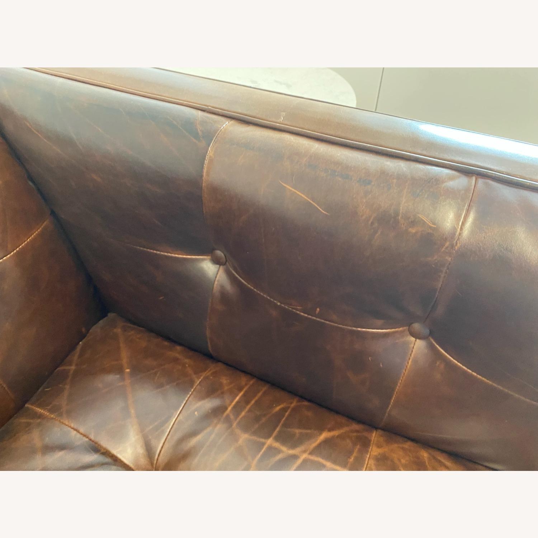 Restoration Hardware Madison Leather Sofa - image-3