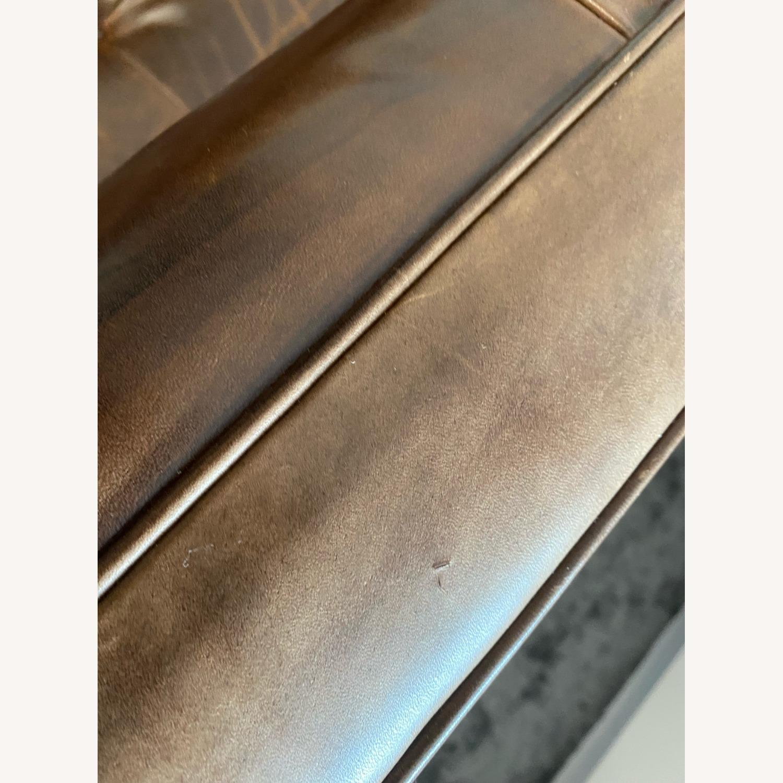 Restoration Hardware Madison Leather Sofa - image-5