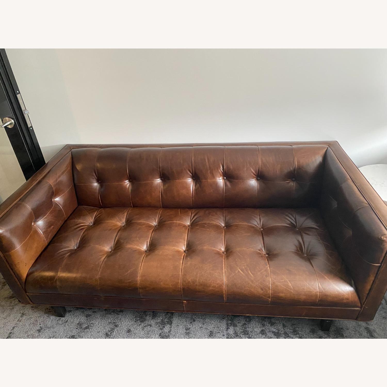 Restoration Hardware Madison Leather Sofa - image-0