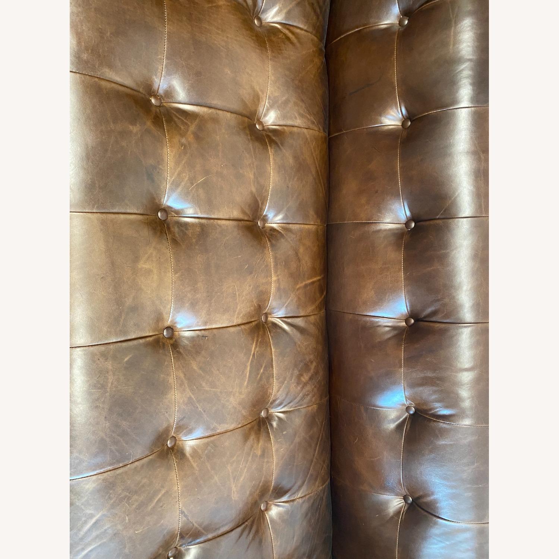Restoration Hardware Madison Leather Sofa - image-1