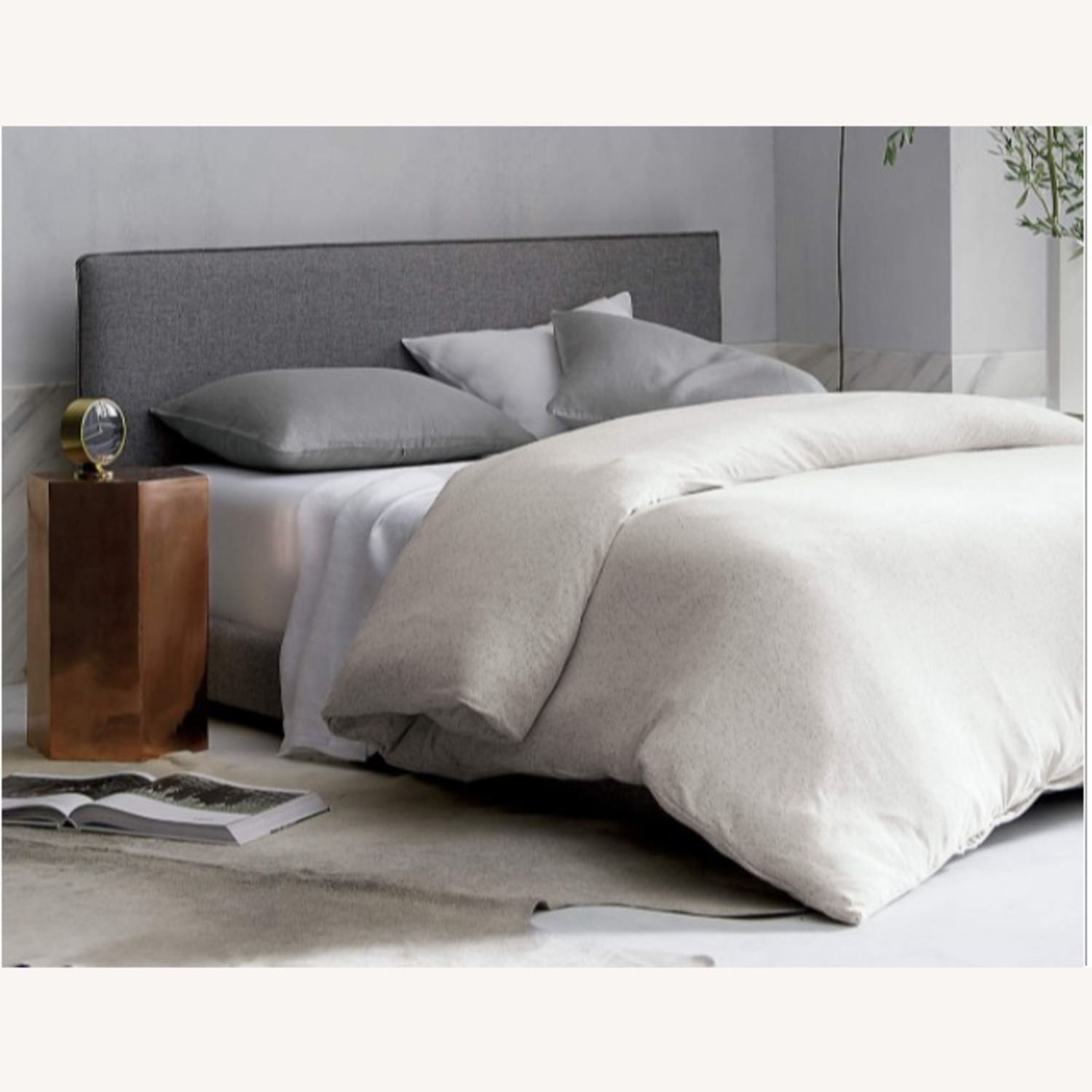 CB2 Gray Queen Bed Frame - image-3