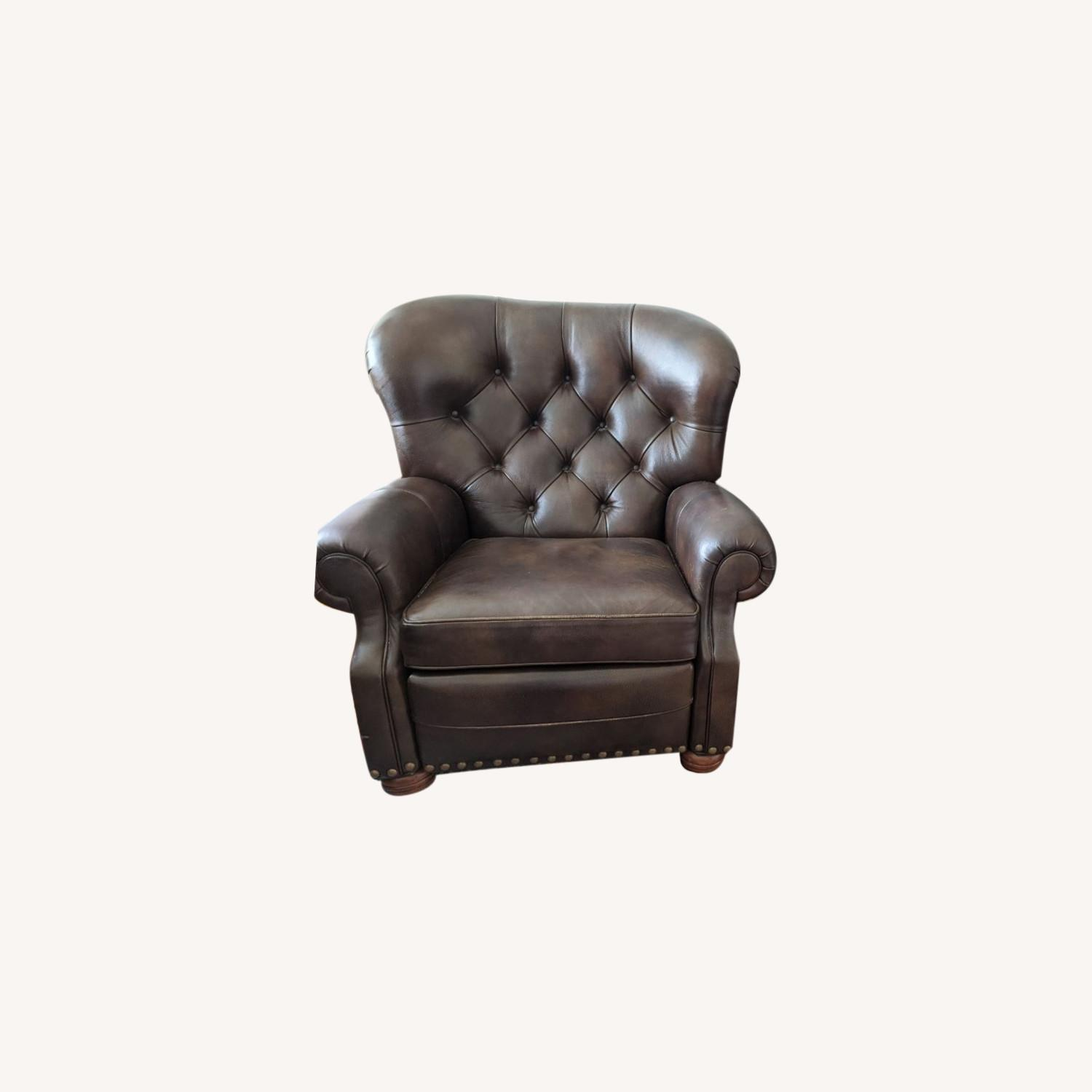 Ethan Allen Leather Recliner Chair (2 avail) - image-0