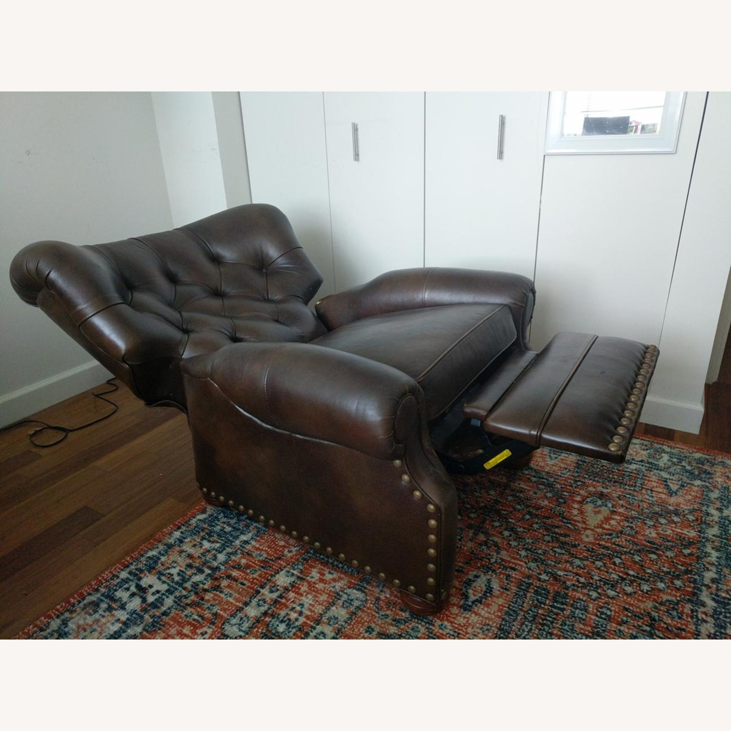 Ethan Allen Leather Recliner Chair (2 avail) - image-2