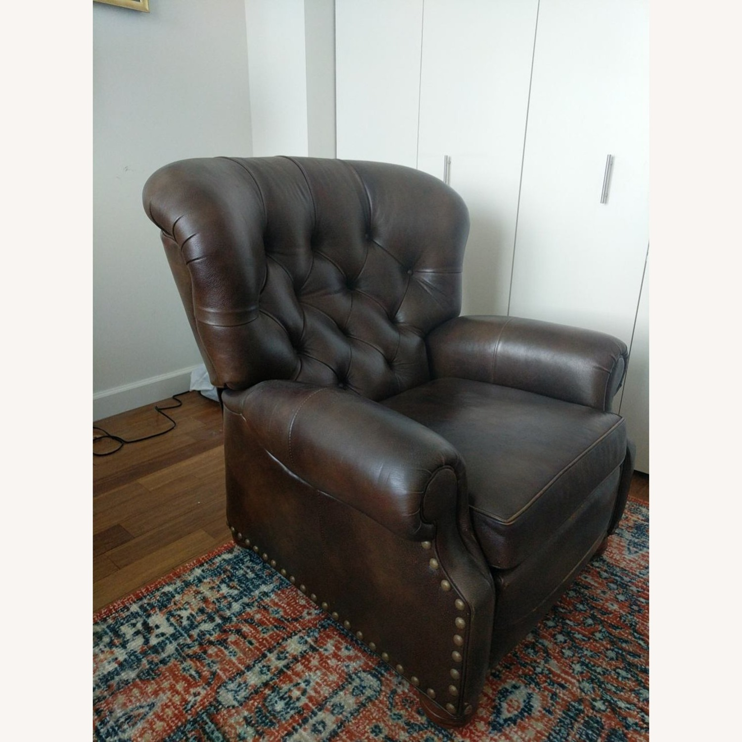 Ethan Allen Leather Recliner Chair (2 avail) - image-3