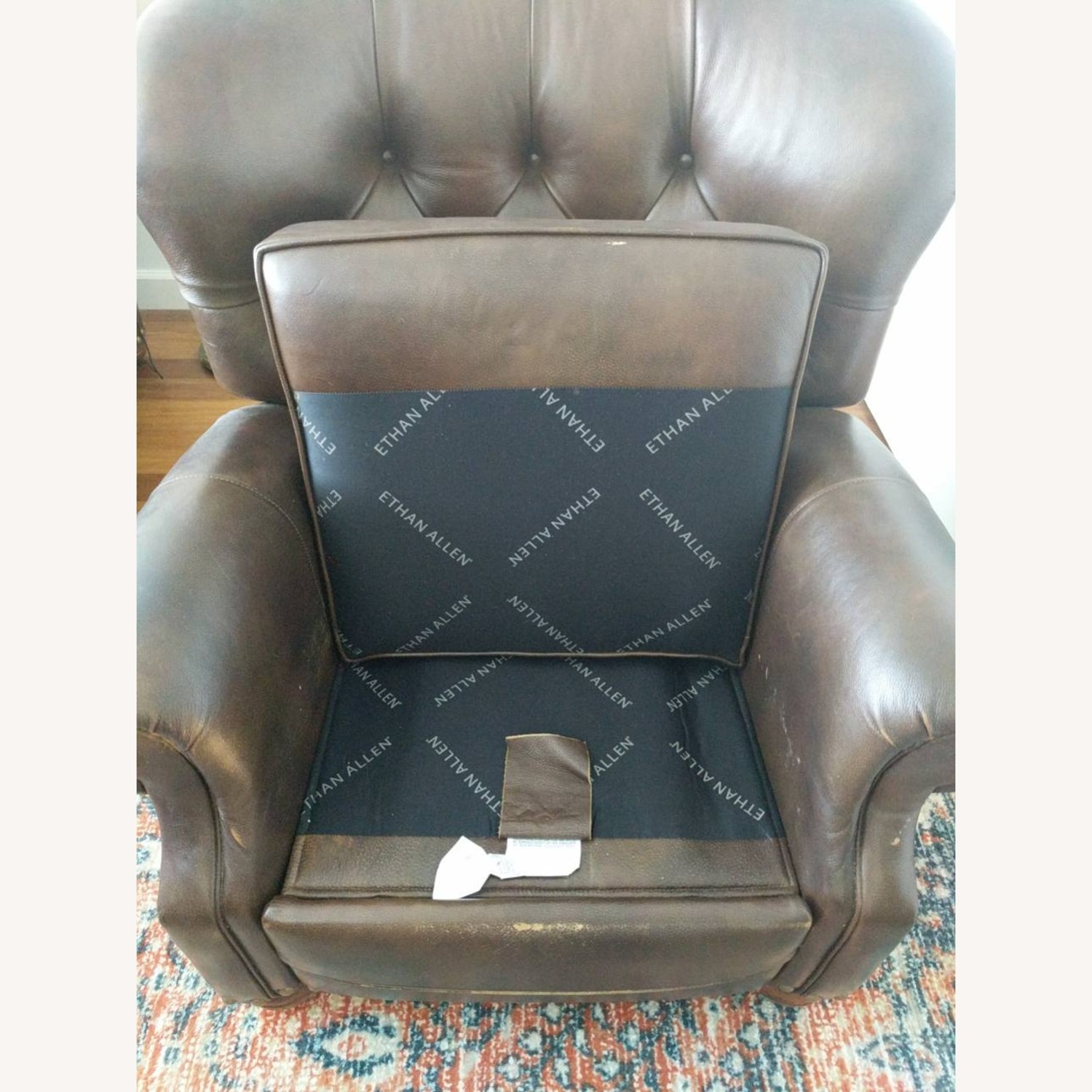 Ethan Allen Leather Recliner Chair (2 avail) - image-6