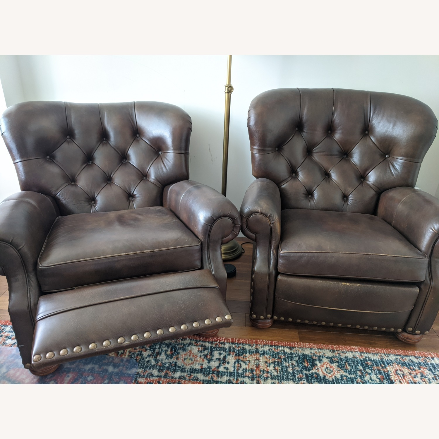 Ethan Allen Leather Recliner Chair (2 avail) - image-4