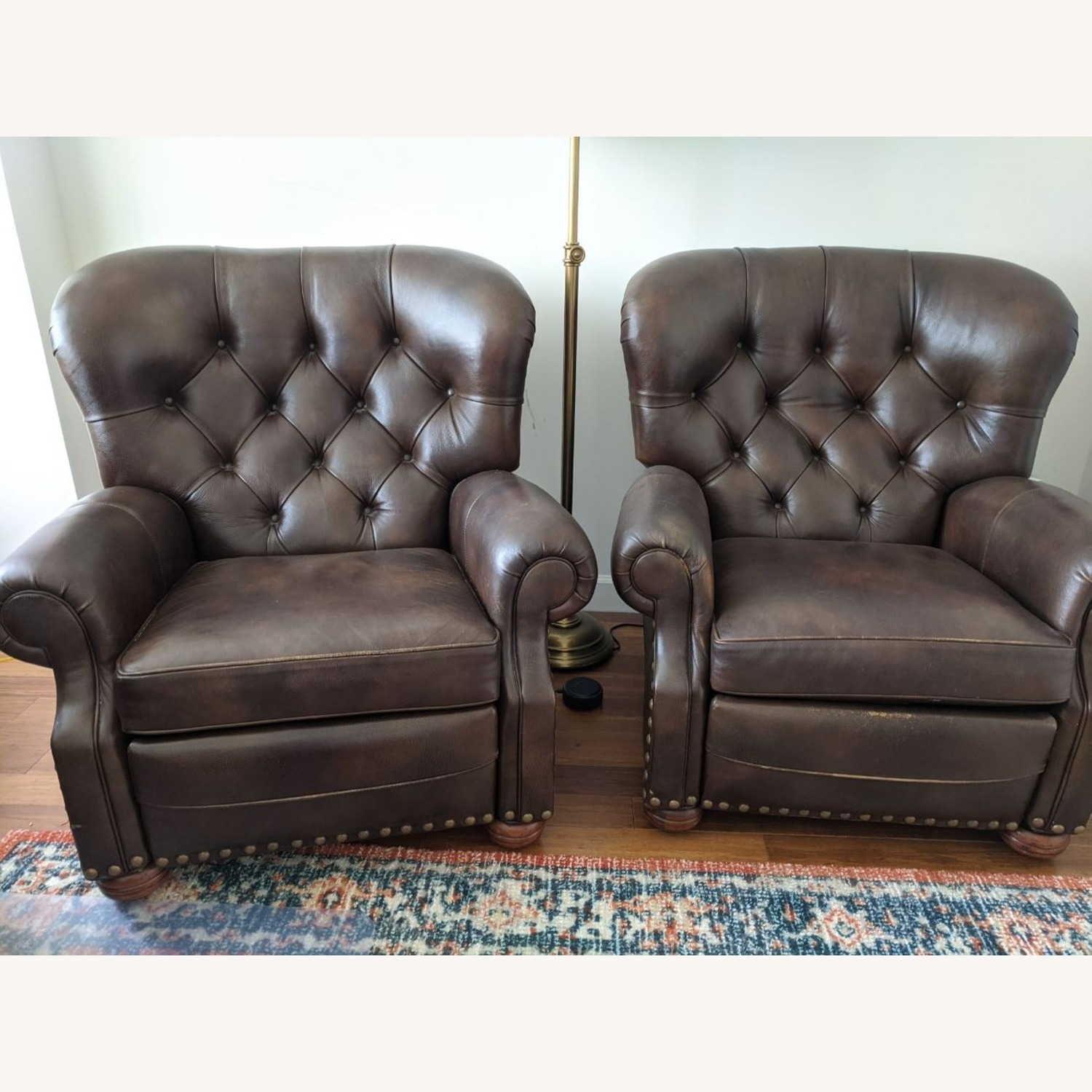 Ethan Allen Leather Recliner Chair (2 avail) - image-1