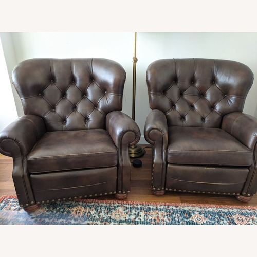 Used Ethan Allen Leather Recliner Chair (2 avail) for sale on AptDeco