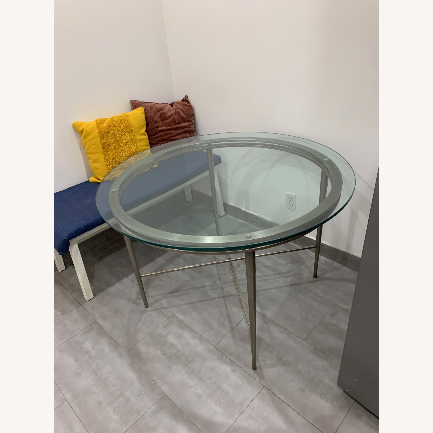 Round Glass Dining Table - image-1
