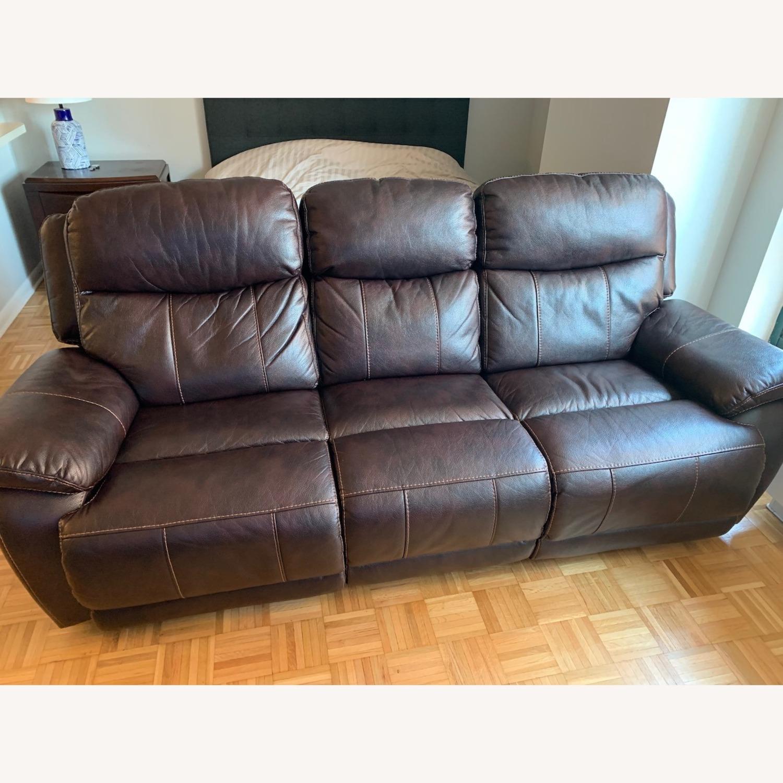 Raymour & Flanigan Reclining Sofa - image-1