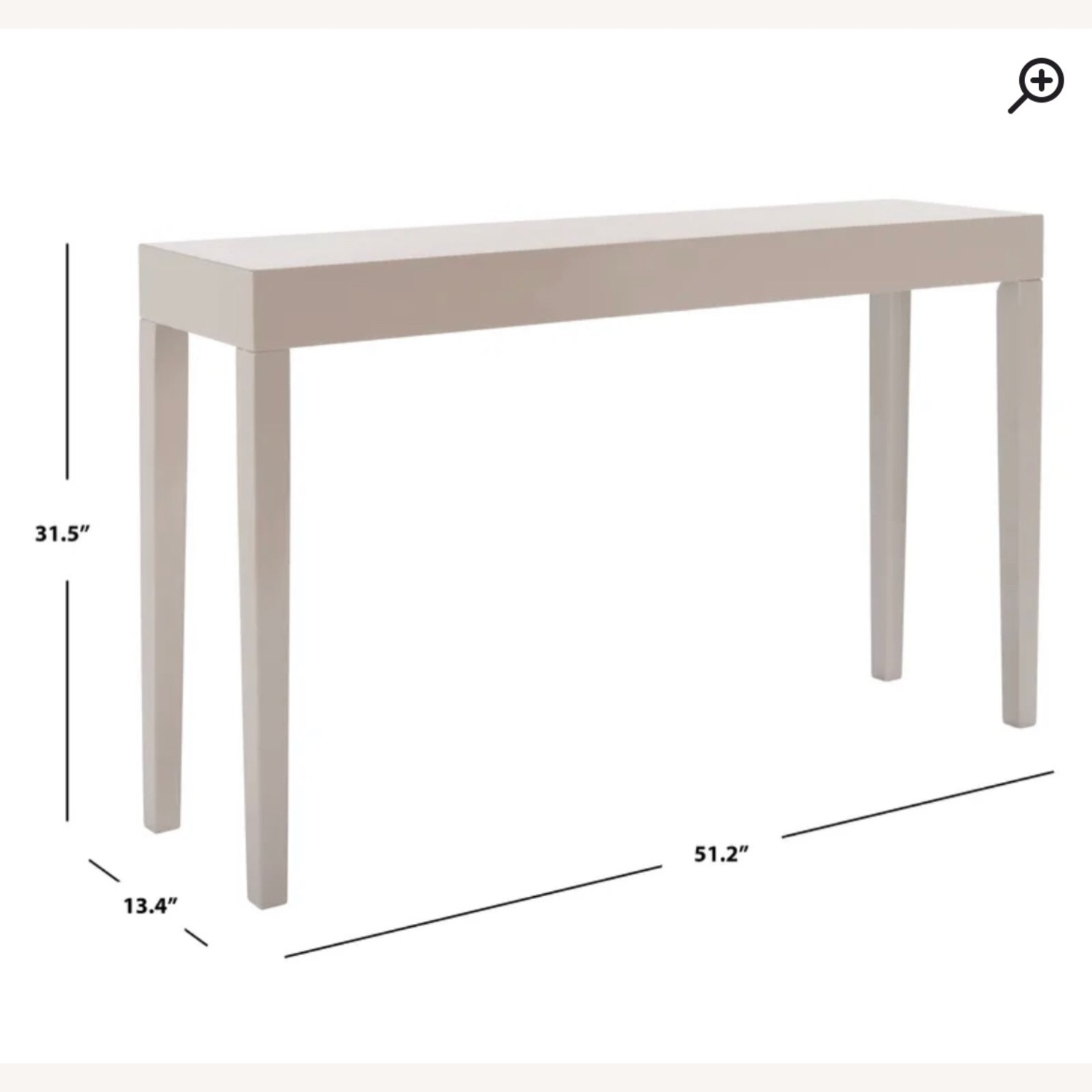 Wayfair Modern Taupe Console/Entry Table - image-5