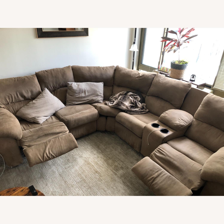 Ashley Furniture Amazon Reclining Sectional Sofa - image-1