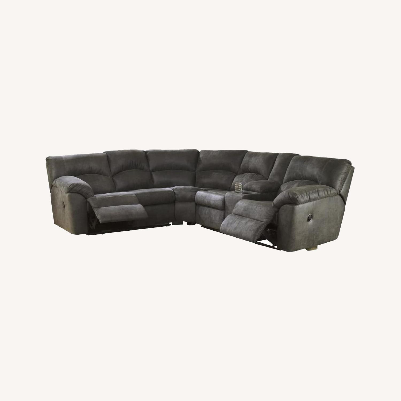Ashley Furniture Amazon Reclining Sectional Sofa - image-0