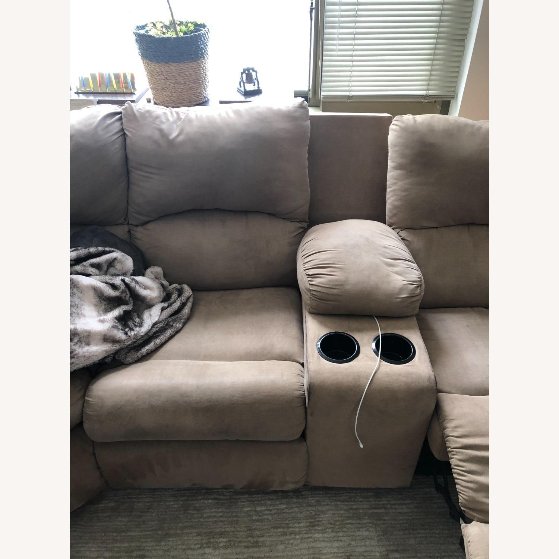 Ashley Furniture Amazon Reclining Sectional Sofa - image-4