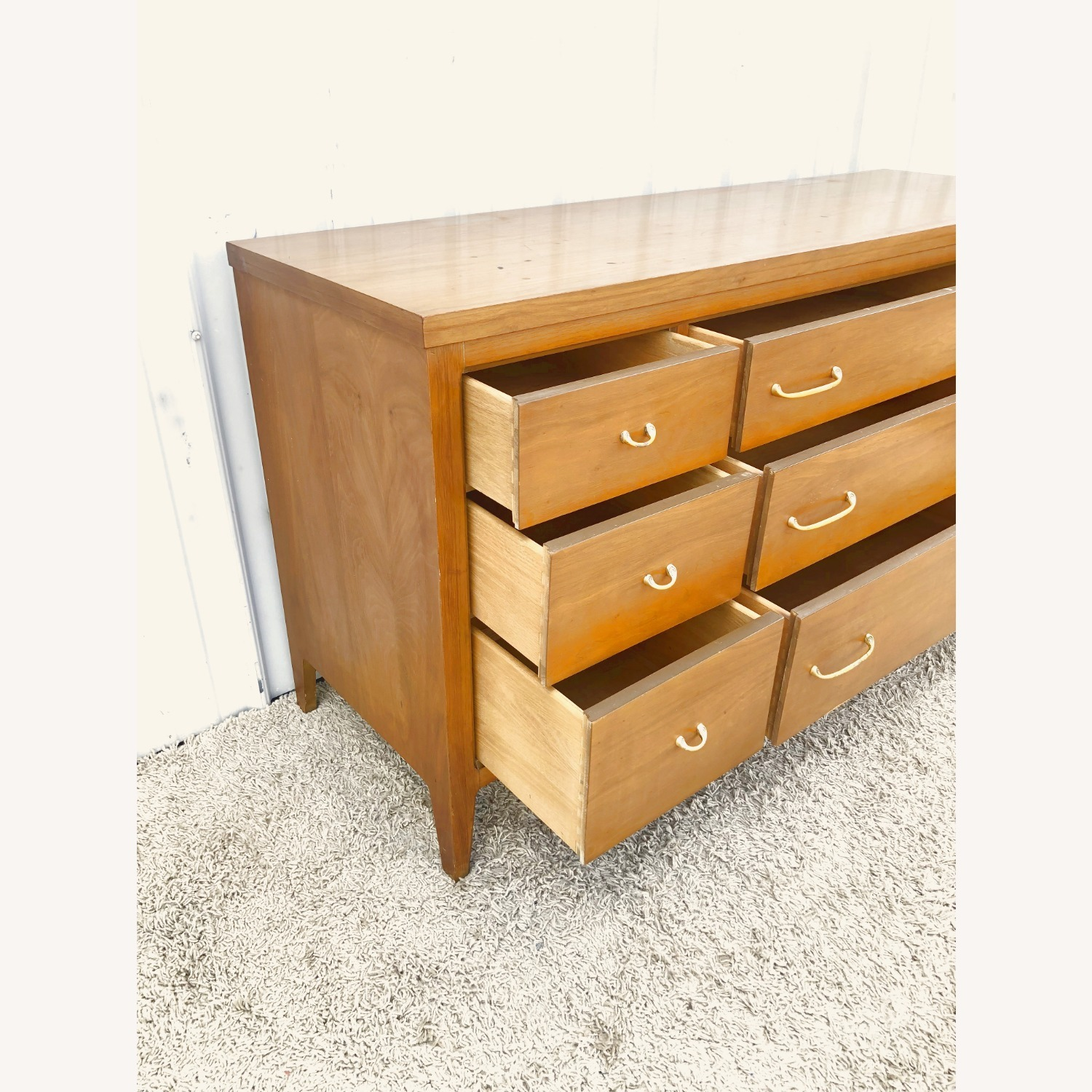 Mid Century Broyhill Lowboy with Brass - image-22