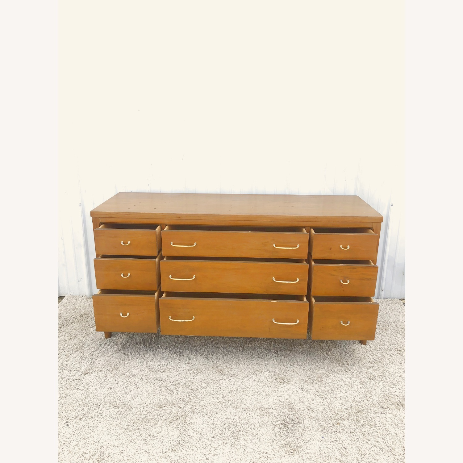Mid Century Broyhill Lowboy with Brass - image-14