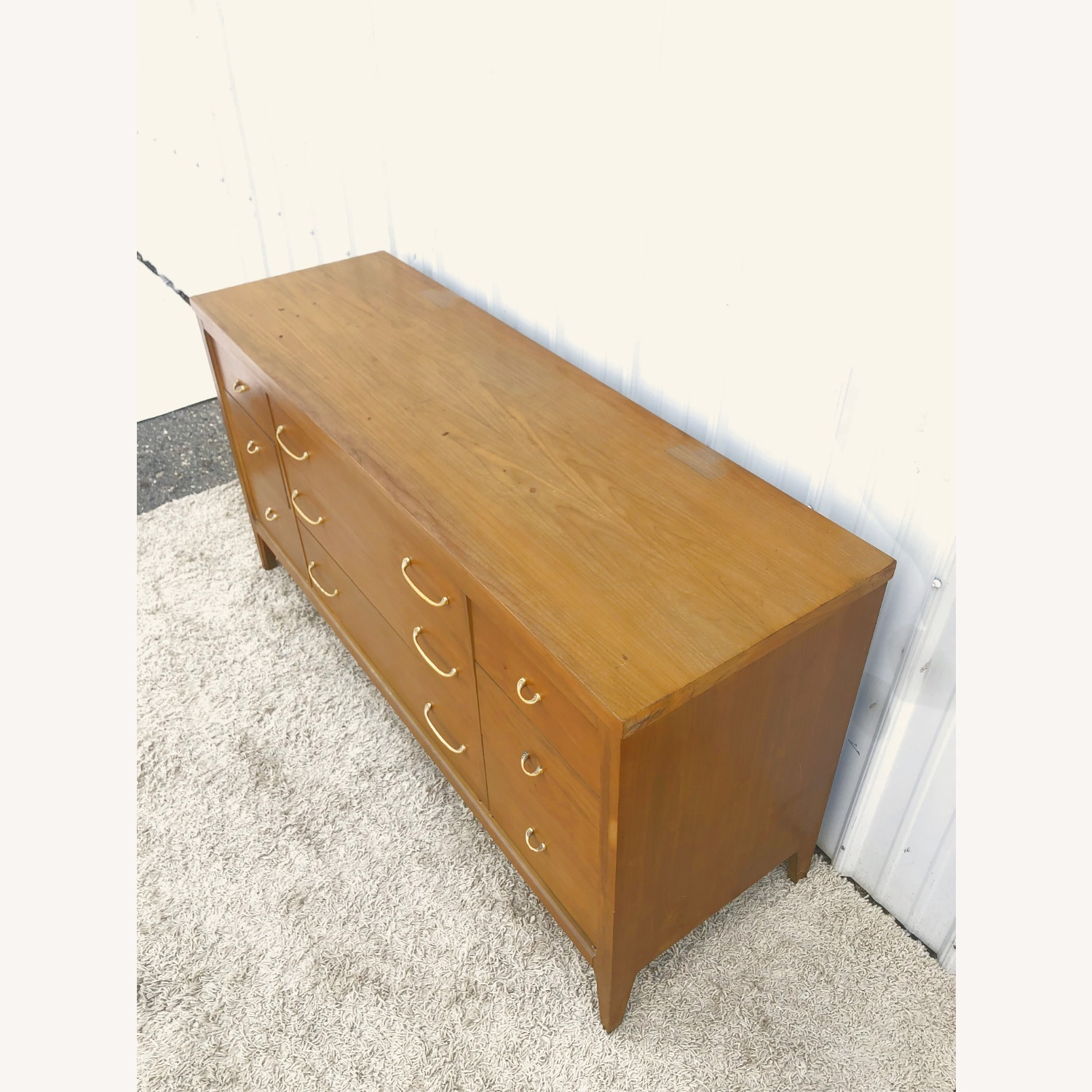 Mid Century Broyhill Lowboy with Brass - image-4