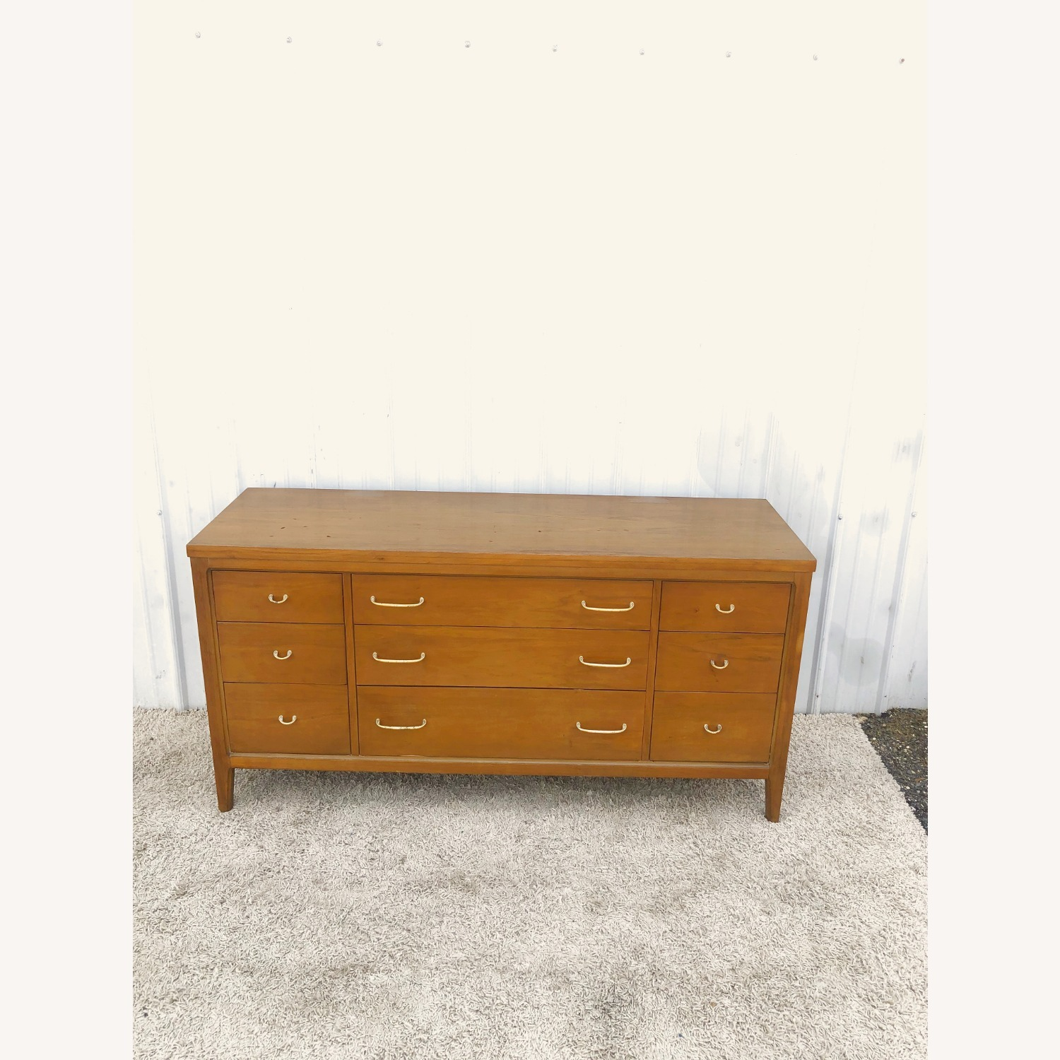 Mid Century Broyhill Lowboy with Brass - image-3