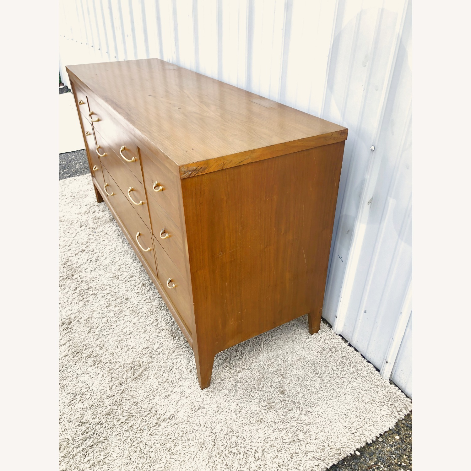 Mid Century Broyhill Lowboy with Brass - image-25