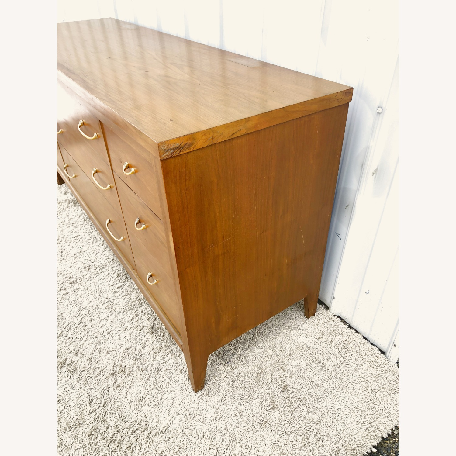 Mid Century Broyhill Lowboy with Brass - image-5