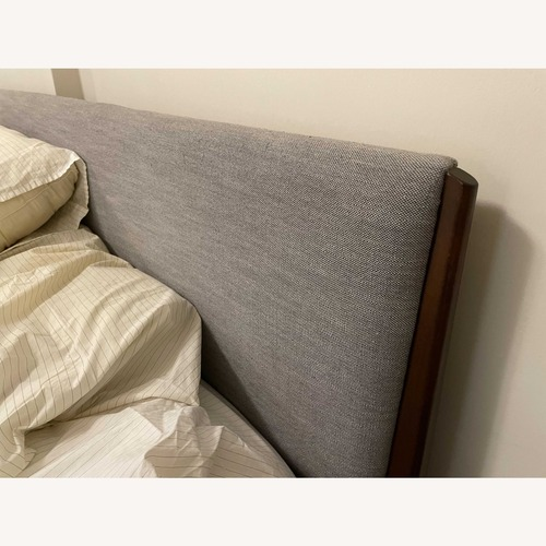Used West Elm Modern Show Wood Bed King for sale on AptDeco