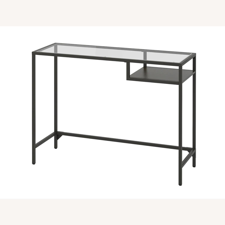 IKEA Metal Glass Mini Desk - image-1