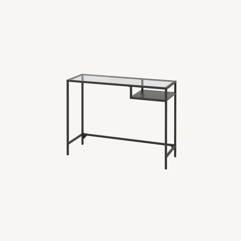 IKEA Metal Glass Mini Desk - image-0