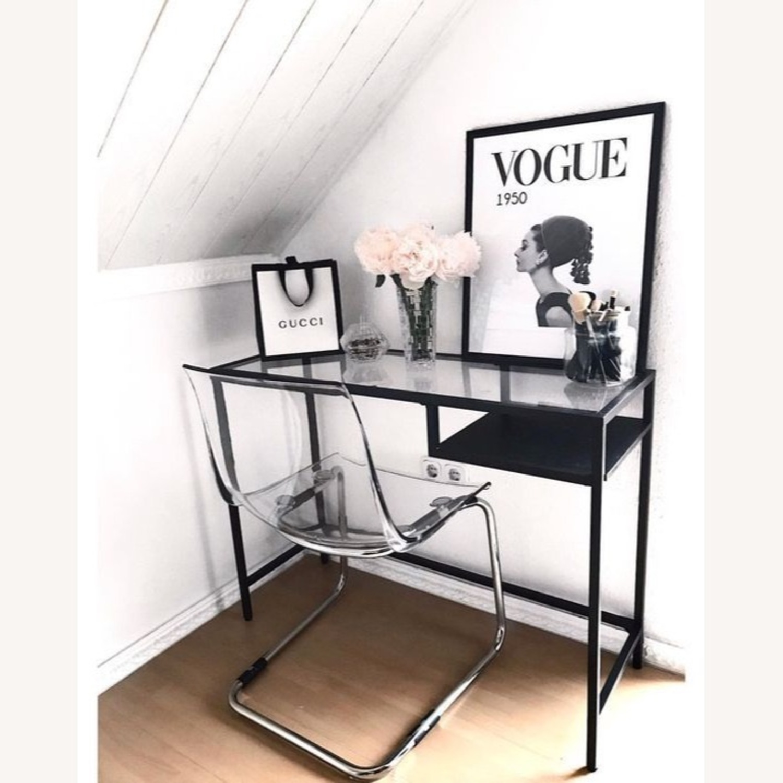 IKEA Metal Glass Mini Desk - image-2
