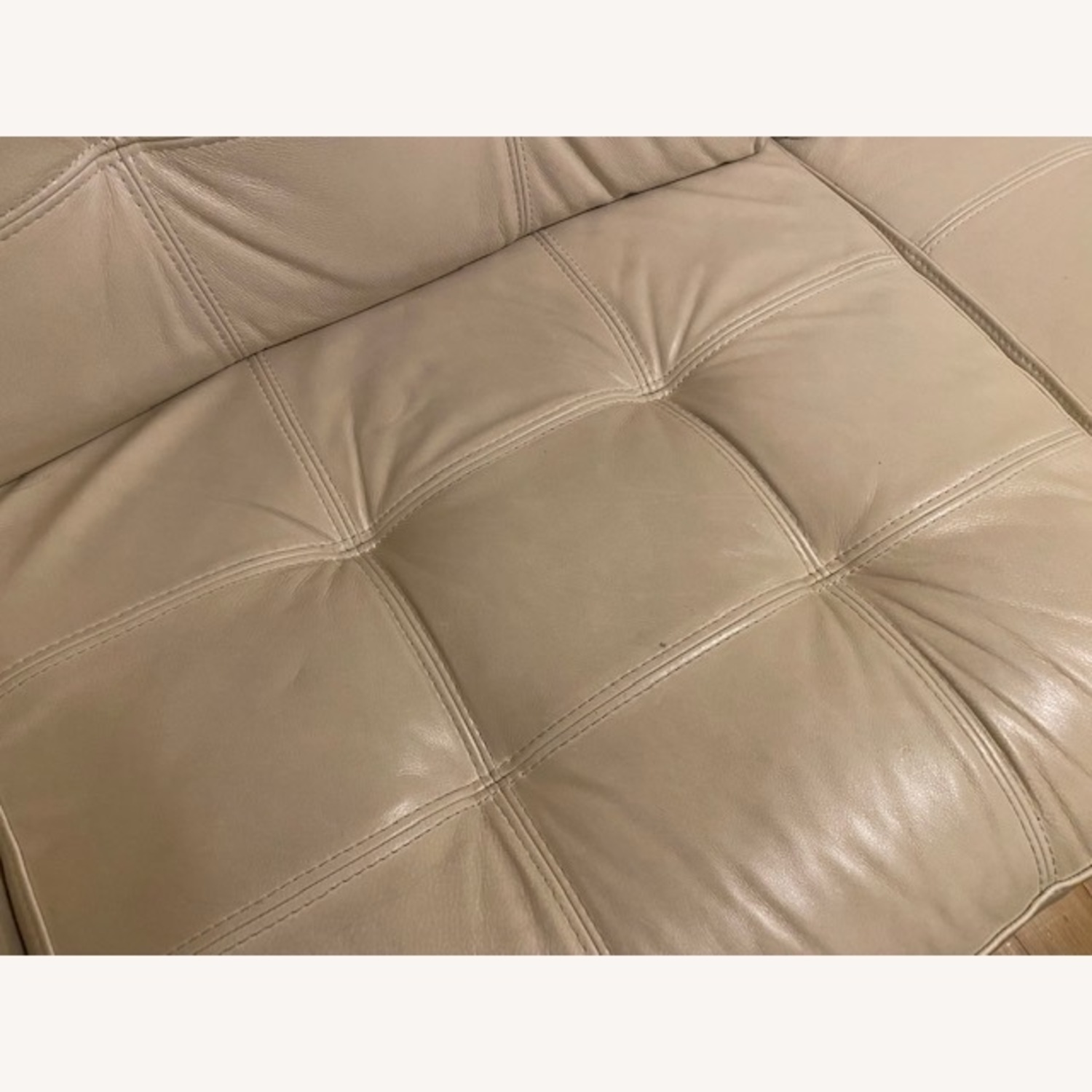 Macy's Leather Tufted Loveseat - image-2
