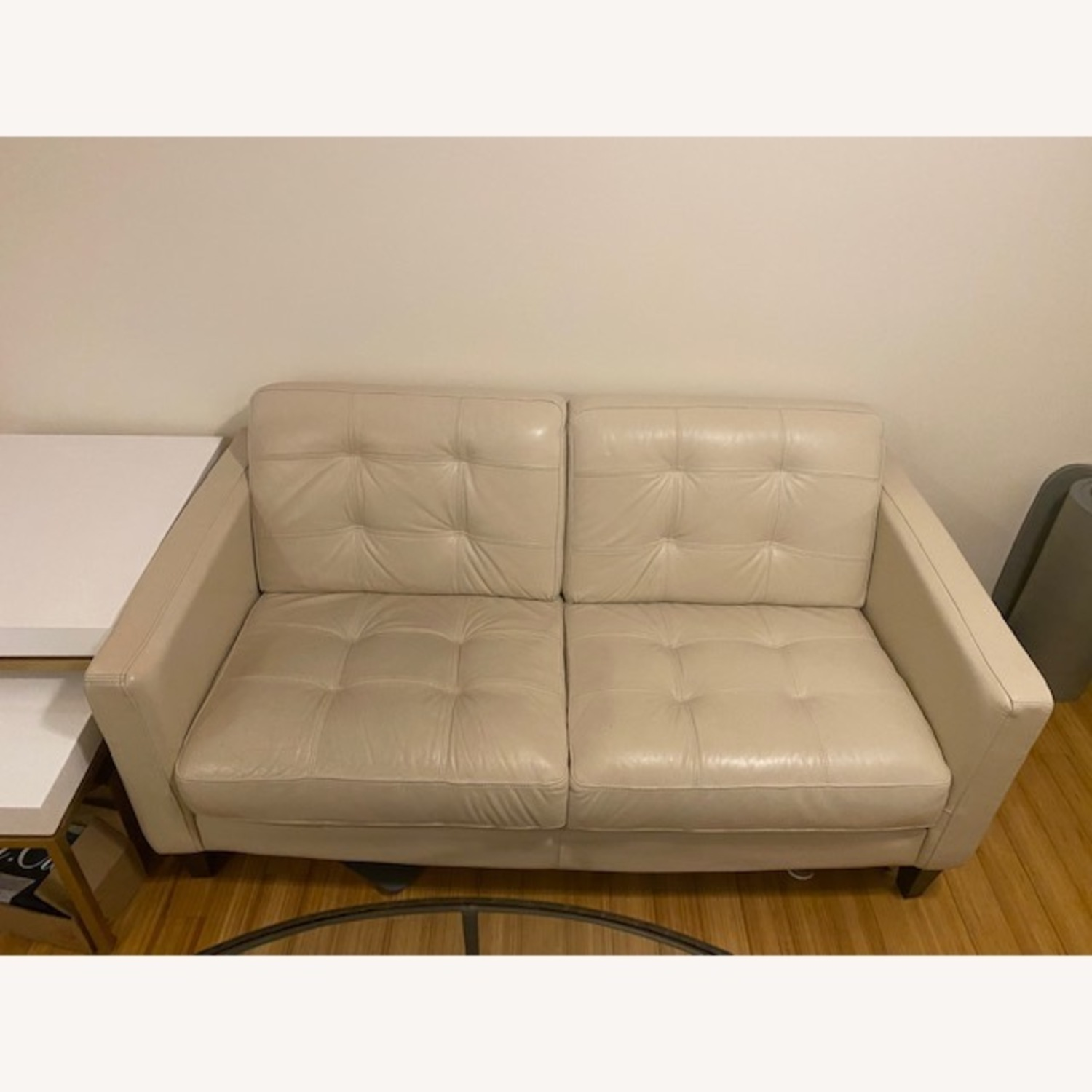 Macy's Leather Tufted Loveseat - image-3