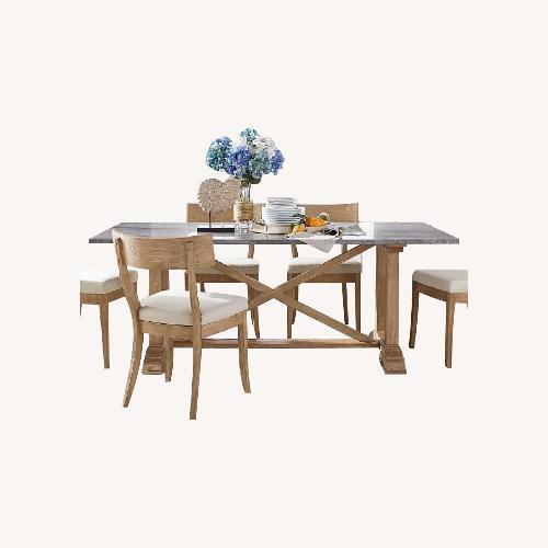 Used Pottery Barn Chamberlain Dining Table Set for sale on AptDeco
