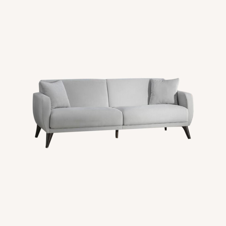 Wayfair Lelana 78.75'' Grey Round Arm Sleeper - image-0