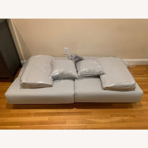 Used Wayfair Lelana 78.75'' Grey Round Arm Sleeper for sale on AptDeco
