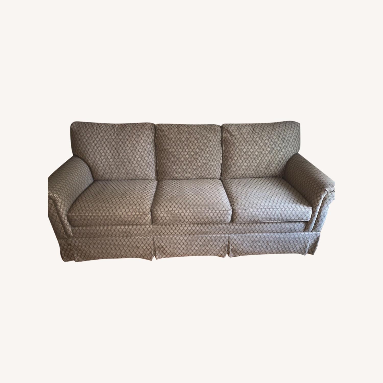 Ethan Allen Paramount Sofa, Decorative Pleat - image-0