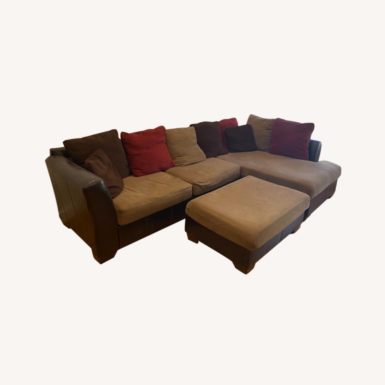 Ashley Furniture Chaise Lounge Sofa & Ottoman - image-0