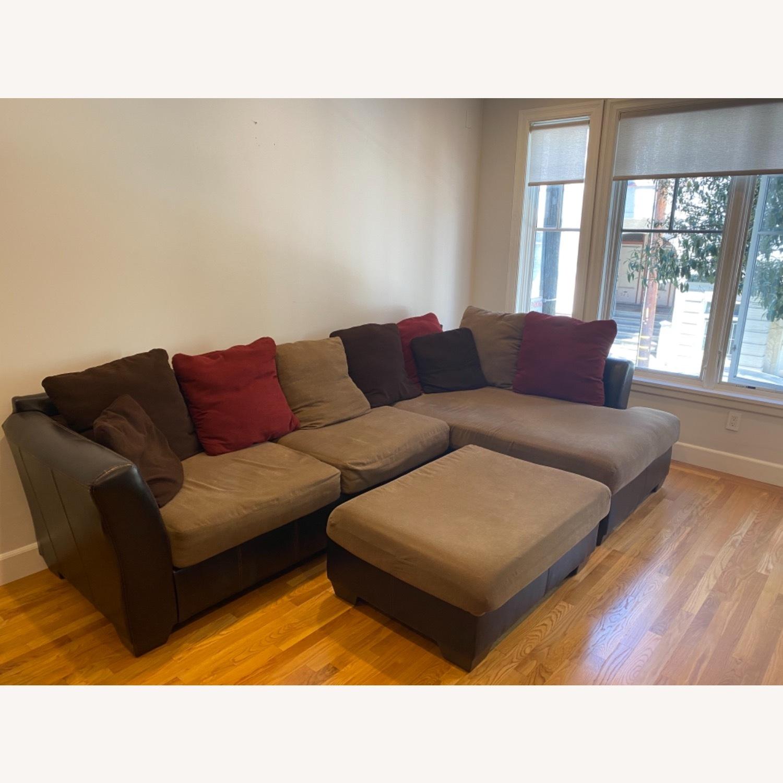 Ashley Furniture Chaise Lounge Sofa & Ottoman - image-1