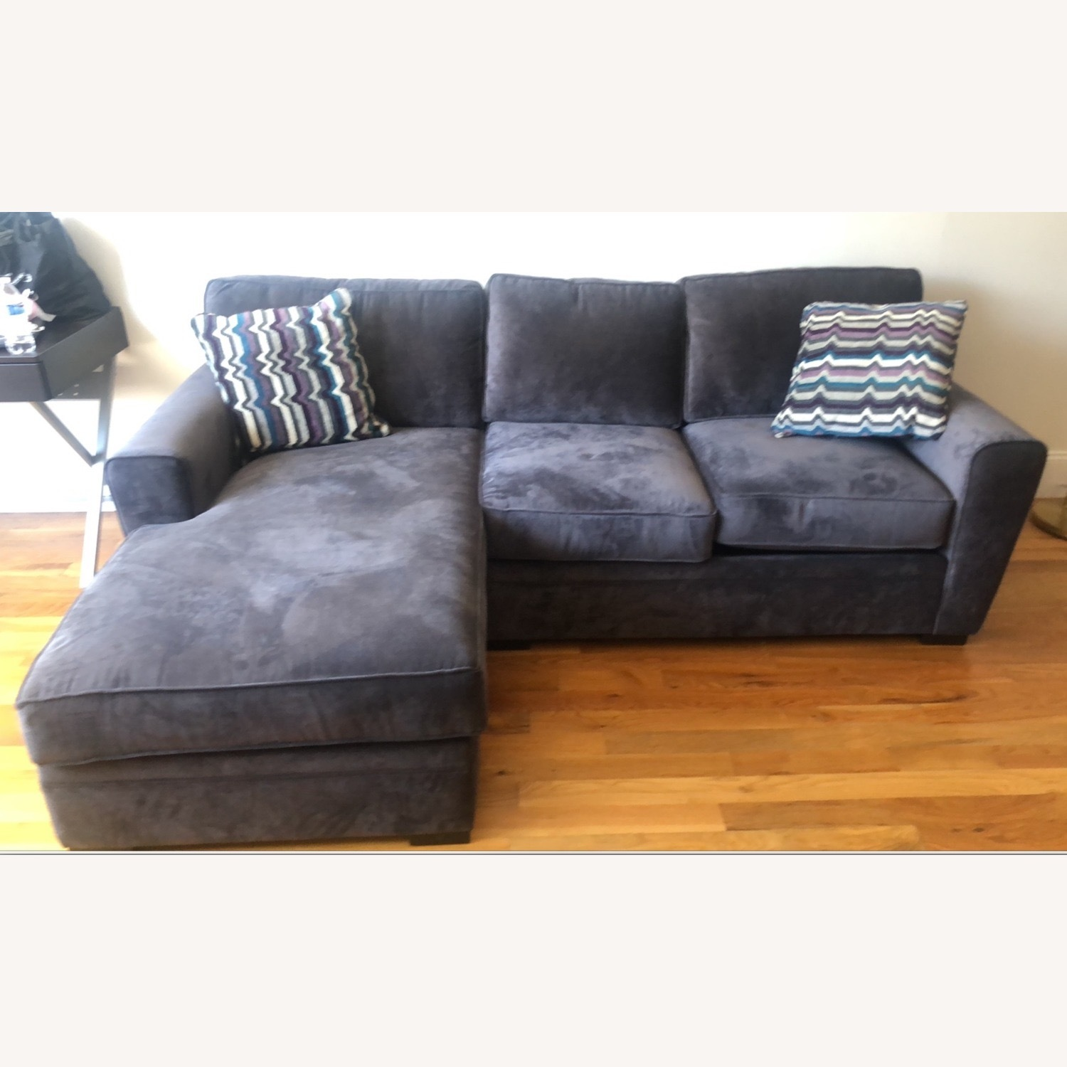 Raymour & Flanigan Dark Gray L Shaped Sectional - image-3