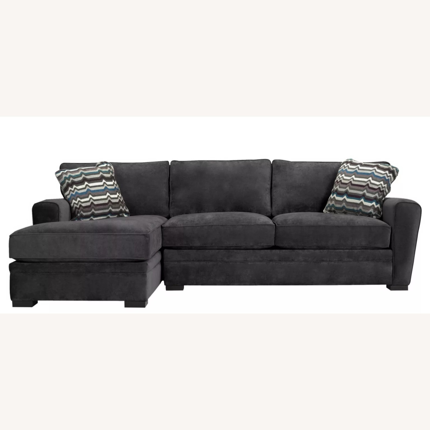 Raymour & Flanigan Dark Gray L Shaped Sectional - image-1