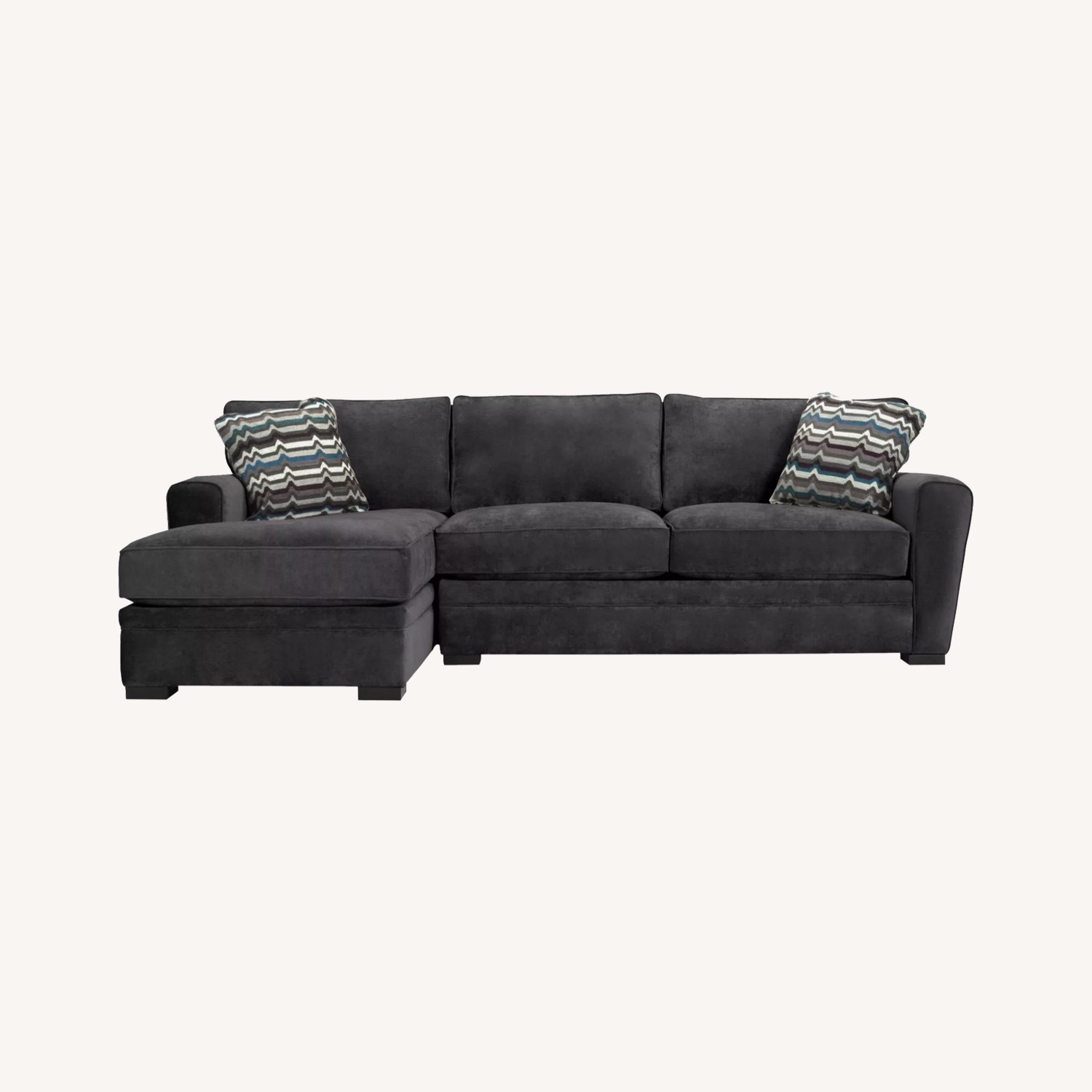 Raymour & Flanigan Dark Gray L Shaped Sectional - image-0