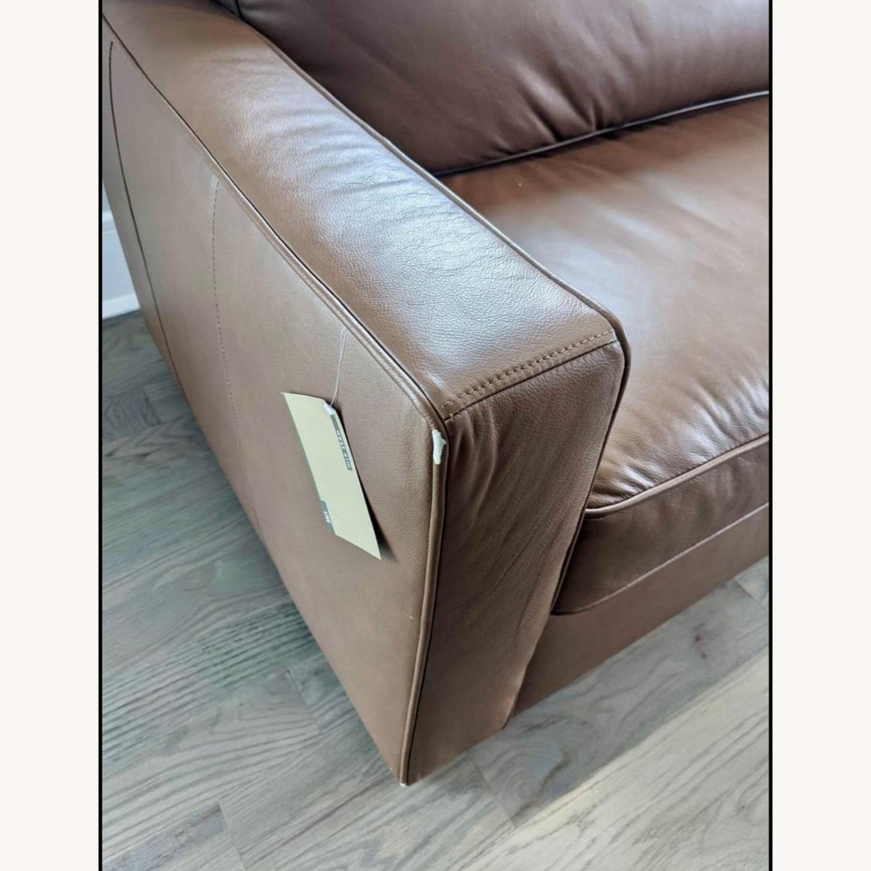 "West Elm Henry 86"" Leather Sofa - image-4"