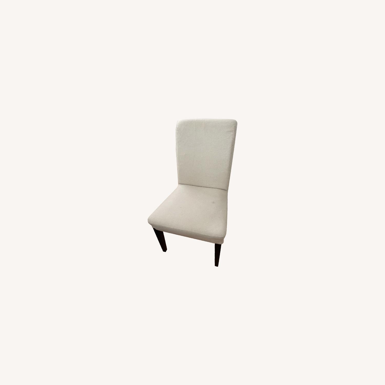IKEA Set of 4 Cream Colored Dining Chairs - image-0