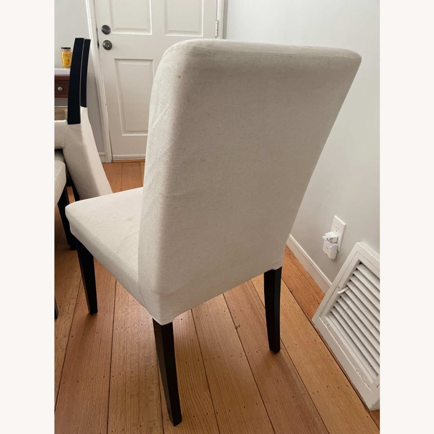 IKEA Set of 4 Cream Colored Dining Chairs - image-5
