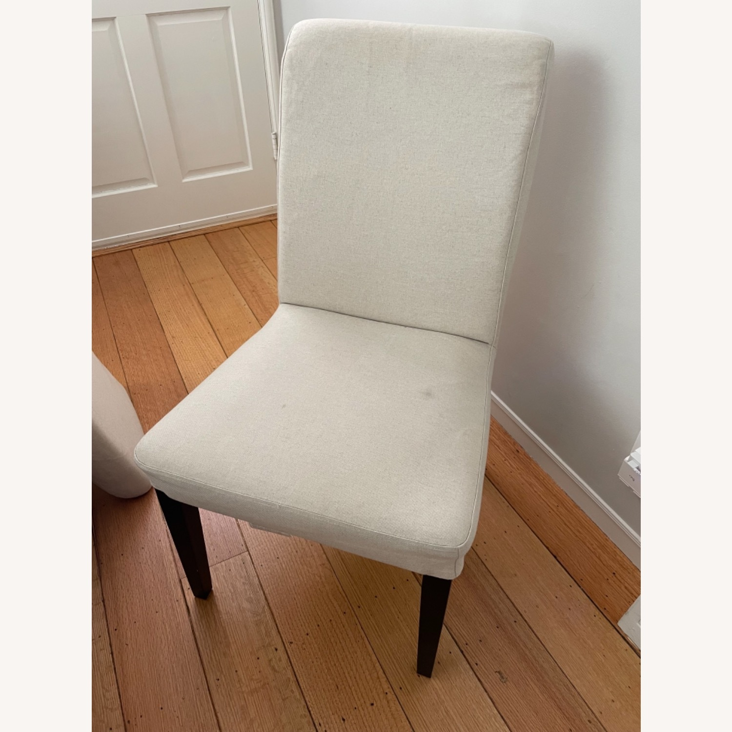 IKEA Set of 4 Cream Colored Dining Chairs - image-1