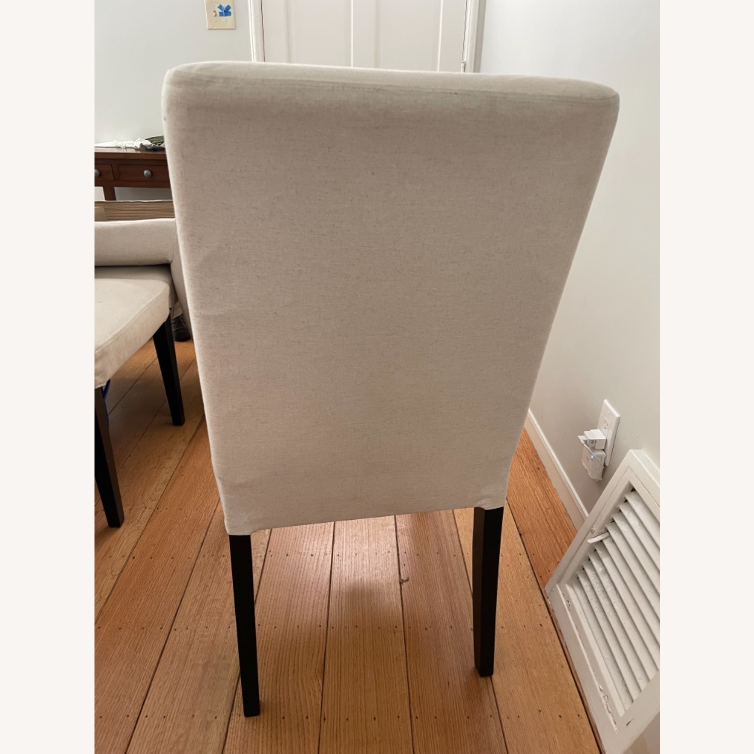 IKEA Set of 4 Cream Colored Dining Chairs - image-4
