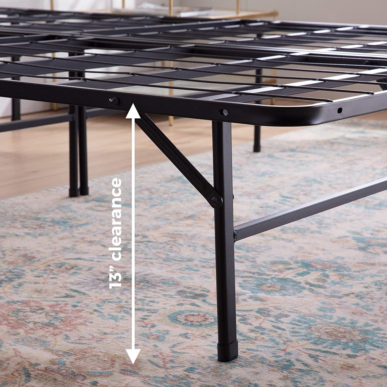 Top-Line Linenspa 14 Inch Folding Metal Platform Bed Frame - image-2